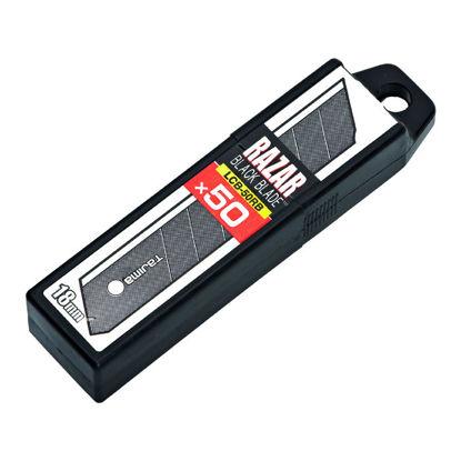Billede af Tajima LCB 50RBC knivblad 50 stk. - 18 mm (sort)