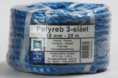 Billede af Polyreb blå 10 mm x 20 mtr