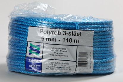 Billede af Polyreb blå 6 mm x 110 mtr