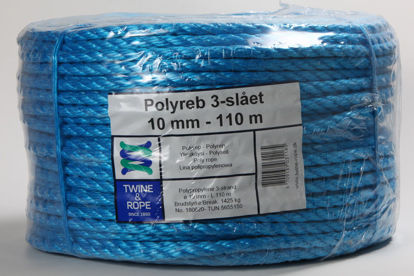 Billede af Polyreb blå 10 mm x 110 mtr