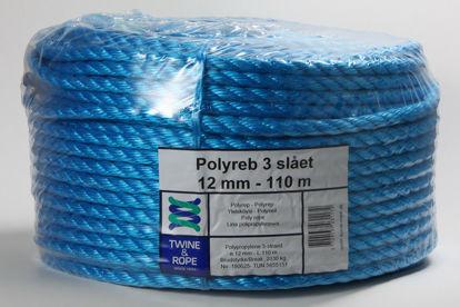 Billede af Polyreb blå 12 mm x 110 mtr