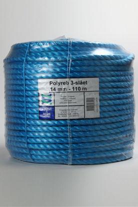 Billede af Polyreb blå 14 mm x 110 mtr
