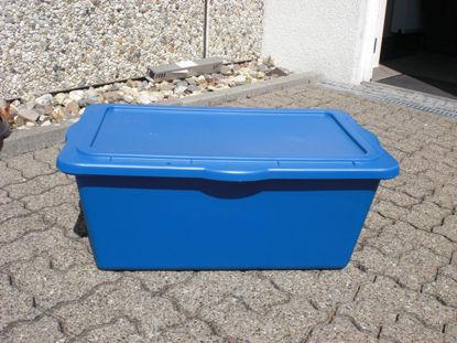 Billede af Jopa Transportkasse 90 ltr. blå u/låg