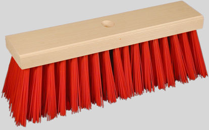 Billede af Gadekost, rød, 19 rk. /  380x76 mm
