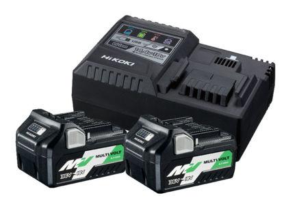 Billede af Hikoki 36V Multivolt batteripakke (2x5,0 ah batteri og lader)