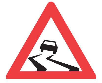 Billede af Advarselstavle A31 Glat vej - 70 cm