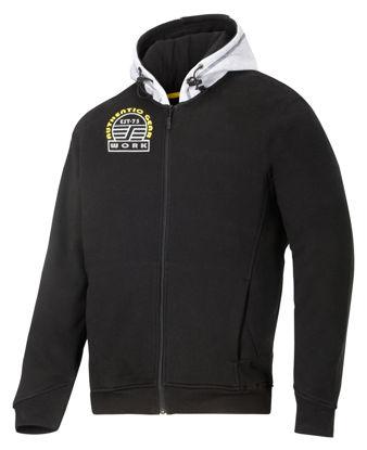 Billede af Snickers sweatshirt m/hætte sort/grå,2XL