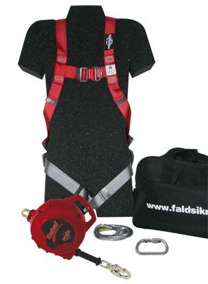 Billede af Faldsikringssæt Pro 3 m/15 mtr. faldblok, leveres i taske