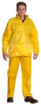 Billede af Regnsæt nylon gul - str. 2XL