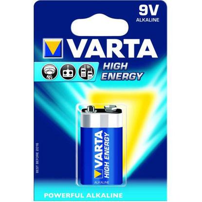 Billede af Batteri 9V Alkaline, pk. á 1 stk