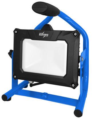 Billede af Blue Electric Multi HYBRID LED Arbejdslampe - 20 W (passer batterier fra Bosch Makita, Hikoki, Panasonic)