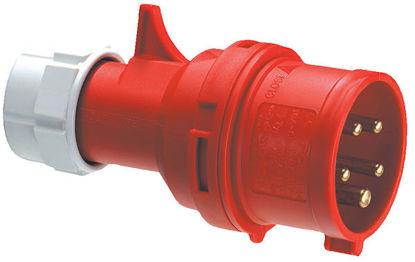 Billede af Stikprop CEE - Han - 400V/16A, Rød