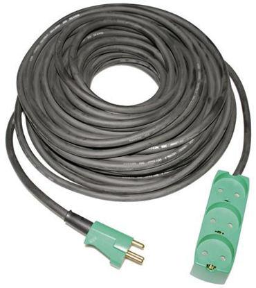 Billede af Kabelsæt 10 meter m/3 stikdåse - 3x1,5 mm2