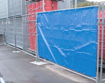 Billede af Presenning t/byggepladshegn, blå