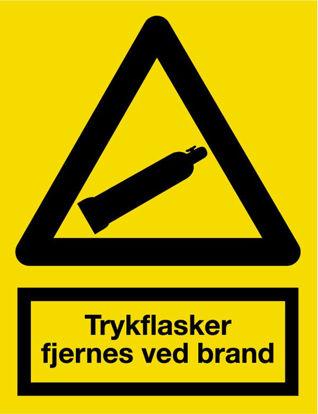Billede af Skilt A322 Trykflasker fjernes - selvklæbende A5