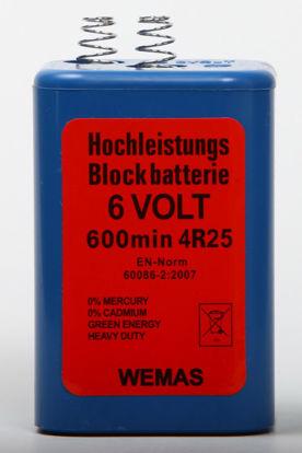 Billede af Blokbatteri 6V m/fjeder