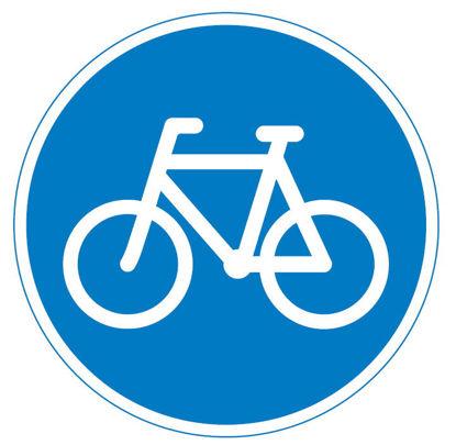 Billede af Påbudstavle D21 Cykelsti