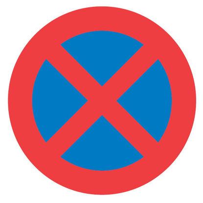 Billede af Forbudstavle C61 Standsning forbudt (Standsning/Parkering)
