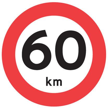 Billede af Forbudstavle C55 60 km