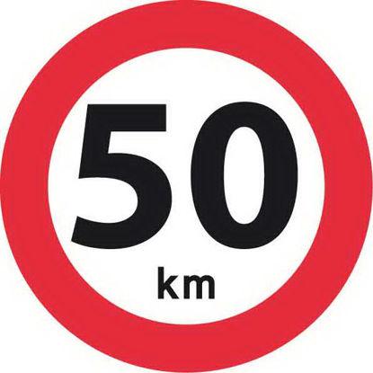Billede af Forbudstavle C55 50 km