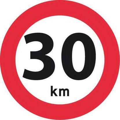 Billede af Forbudstavle C55 30 km