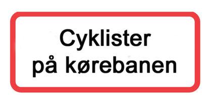 Billede af Undertavle U3.1 Cyklister på kørebanen