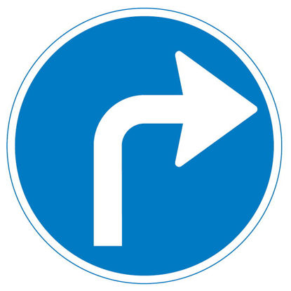 Billede af Påbudstavle D11.5 Påbudt kørselsretning - højre