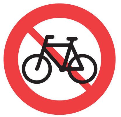 Billede af Forbudstavle C25.1 Cykling/knallert forb