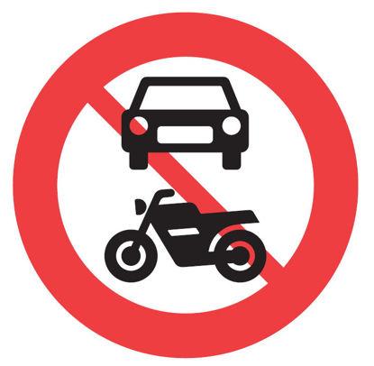 Billede af Forbudstavle C22.1 Motorkøretøj forbudt