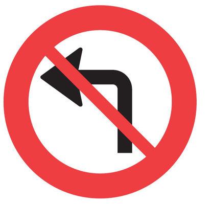 Billede af Forbudstavle C11.2 Venstresving forbudt