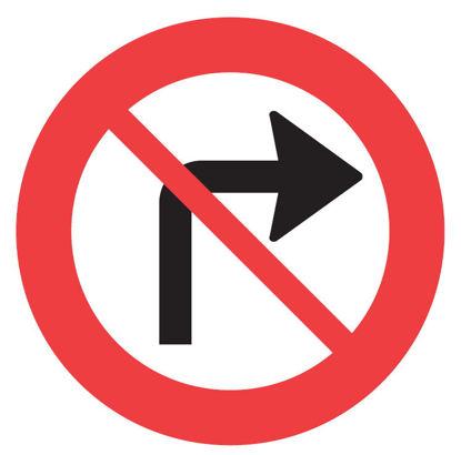 Billede af Forbudstavle C11.1 Højresving forbudt