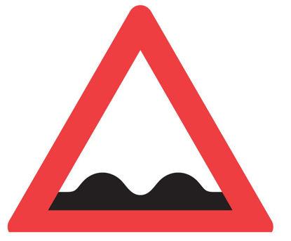 Billede af Advarselstavle A37 Ujævn vej - 70 cm
