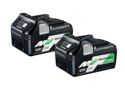 Billede af Hikoki 18/36V Batteripakke, 2 stk (36V2,5, 18V5,0 ah)