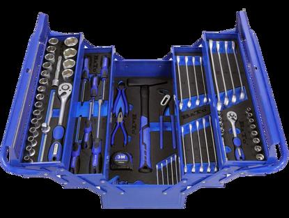 Billede af Bato værktøjskasse med indhold, 75 dele